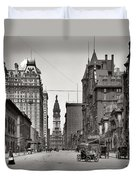 Broad Street Philadelphia 1905 Duvet Cover by Bill Cannon