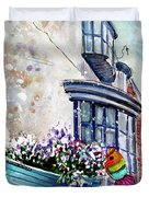 Broadies By The Sea In Staithes Duvet Cover