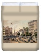 Broadway In The Nineteenth Century Duvet Cover