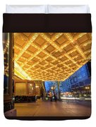 Broadway Theater Marquee Lights In Downtown Duvet Cover