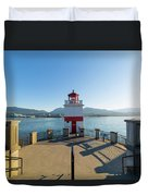 Brockton Point Lighthouse At Stanley Park Duvet Cover