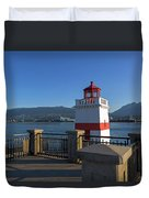 Brockton Point Lighthouse In Vancouver Bc Duvet Cover