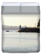 Brockton Point Lighthouse On Peninsula At Stanley Park Duvet Cover
