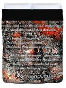 Broken Chains With Scripture Duvet Cover