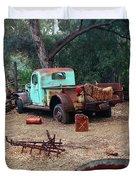 Broken Down Pickup Truck Duvet Cover