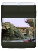 Broken Freeway Oakland Earthquake Duvet Cover