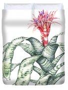 Bromeliad Aechmea Fasciata Duvet Cover