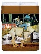 Bronc Riding Duvet Cover