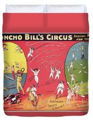 Bronco Bills Circus Duvet Cover