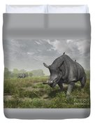 Brontotherium Wander The Lush Late Duvet Cover