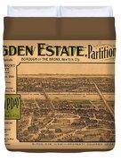 1909 Bronx New York Realtor Flyer Duvet Cover