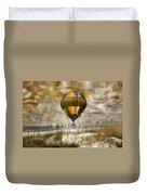 Bronze Beach Ballooning Duvet Cover