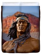 Bronze Native Duvet Cover