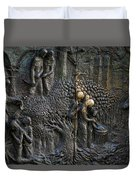 Bronze Sculptured Church Door - Slovenia Duvet Cover