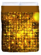 Bronze Solar Cubes Duvet Cover