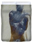 Bronze Statue Duvet Cover