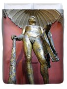 Bronze Statue Of Hercules In The Vatican Museum Duvet Cover