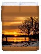 Bronze Winter Dawn Duvet Cover