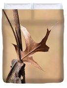 Bronzed Oak Leaf Vertical Duvet Cover