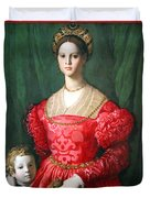 Bronzino's A Young Woman And Her Little Boy Duvet Cover