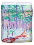 Brook In Winter, 1914 Duvet Cover