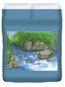 Brook And Stream  Duvet Cover