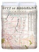 Brooklyn 1893 Map Duvet Cover