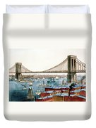 Brooklyn Bridge, 1872 Duvet Cover