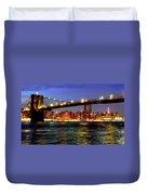 Brooklyn Bridge At Night Duvet Cover