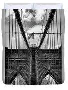 Brooklyn Bridge Bw Duvet Cover