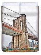 Brooklyn Bridge Close Up Duvet Cover