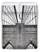 Brooklyn Bridge Flag Duvet Cover