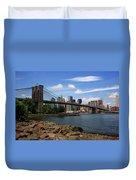 Brooklyn Bridge - New York City Skyline Duvet Cover