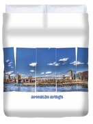 Brooklyn Bridge Pano  Duvet Cover