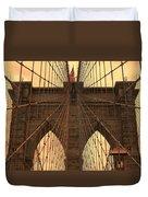 Brooklyn Bridge Sunset Duvet Cover