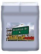 Brooklyn Bridge Thisaway Duvet Cover