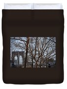 Brooklyn Bridge Thru The Trees Duvet Cover