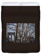 Brooklyn Bridge Thru The Trees Duvet Cover