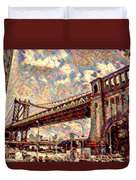 Brooklyn Bridge Watercolor Duvet Cover