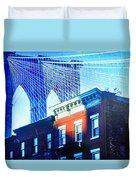 Brooklyn Bridge, New York City, December Duvet Cover