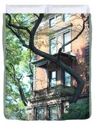 Brooklyn Building And Tree Duvet Cover