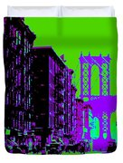 Brooklyn Green Duvet Cover