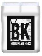 Brooklyn Nets City Poster Art Duvet Cover