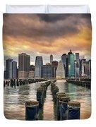 Brooklyn Pilings   Duvet Cover