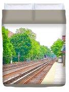 Brooklyn Subway Train Station 2 Duvet Cover