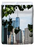 Brooklyn View Of One World Trade Center  Duvet Cover