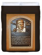 Brooks Robinson Hall Of Fame Plaque Duvet Cover