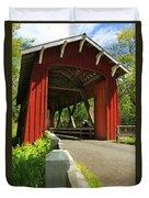 Brookwood Covered Bridge Duvet Cover