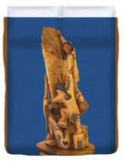 Brother 2, Carved Out Of A Dead Tree By Scott Alan Malinsky In Twin Lakes, Colorado  Duvet Cover