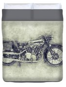 Brough Superior Ss100 - 1924 - Motorcycle Poster 1 - Automotive Art Duvet Cover